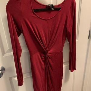 Long sleeve dress-fitted